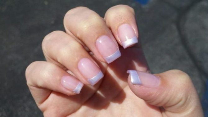 Pearl Tip Nails